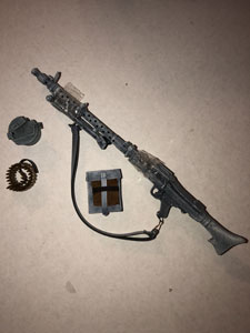 DML Jurgen Kleinheinz (Frosted Weathered) MG-34 & Extras